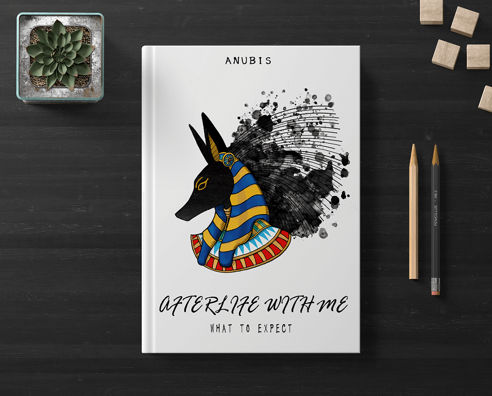 Egyptian God Anubis on a book cover